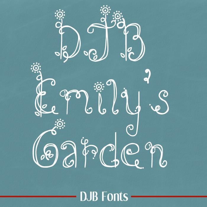 DJB Emilys Garden font by Darcy Baldwin Fonts