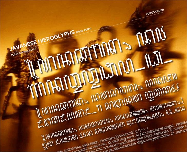 JavaneseHierogly font by FokusDisain