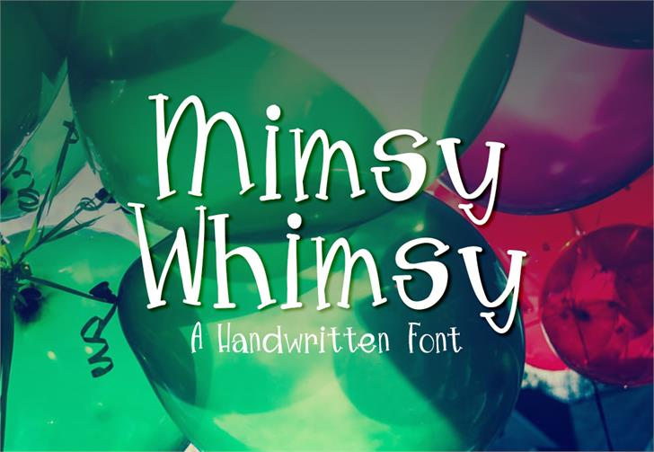 MimsyWhimsy font by GroovyJournal