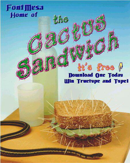 Cactus Sandwich font by FontMesa