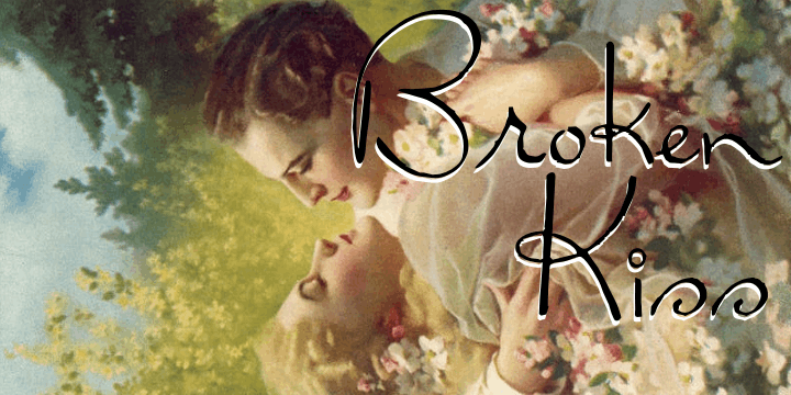 Broken Kiss font by Intellecta Design