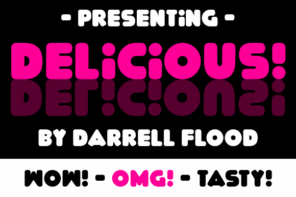 Delicious font by Darrell Flood