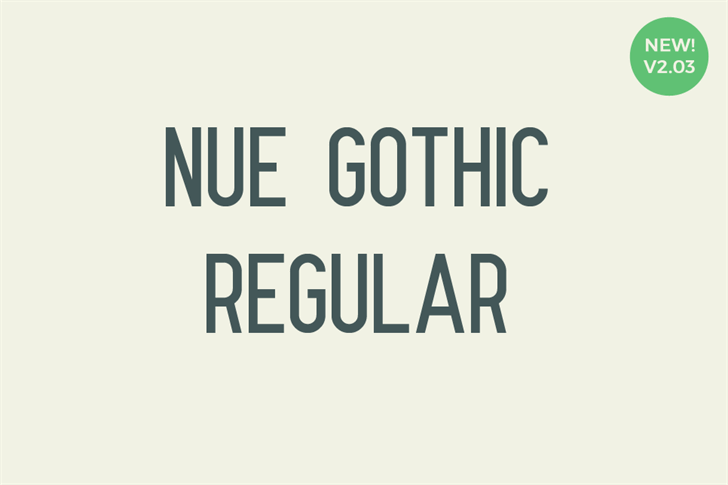 Nue Gothic font by Out Of Step Font Company