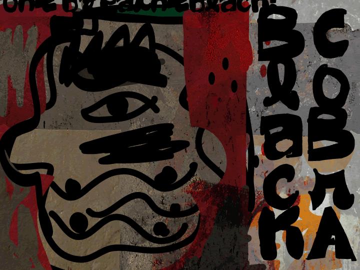 Black CoBrA font by paintblack éditions