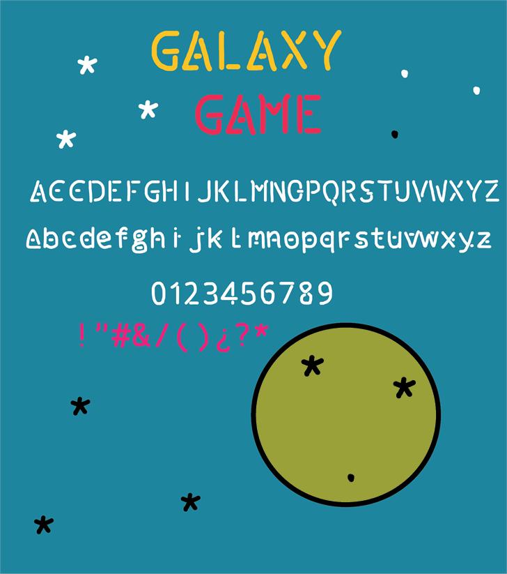 galaxy game font by Cé - al