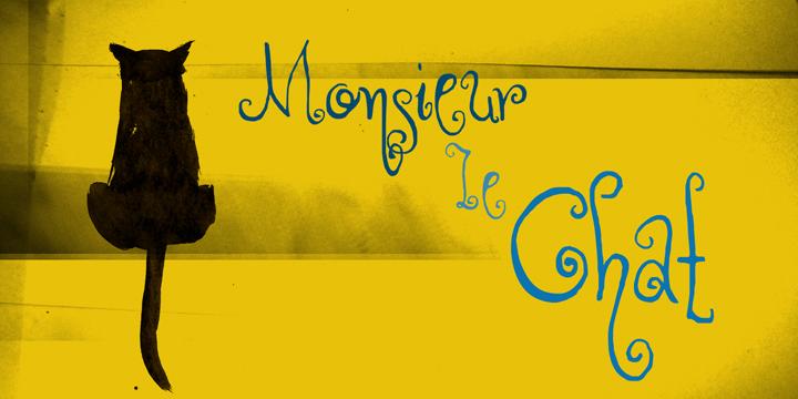 DK Monsieur Le Chat font by David Kerkhoff