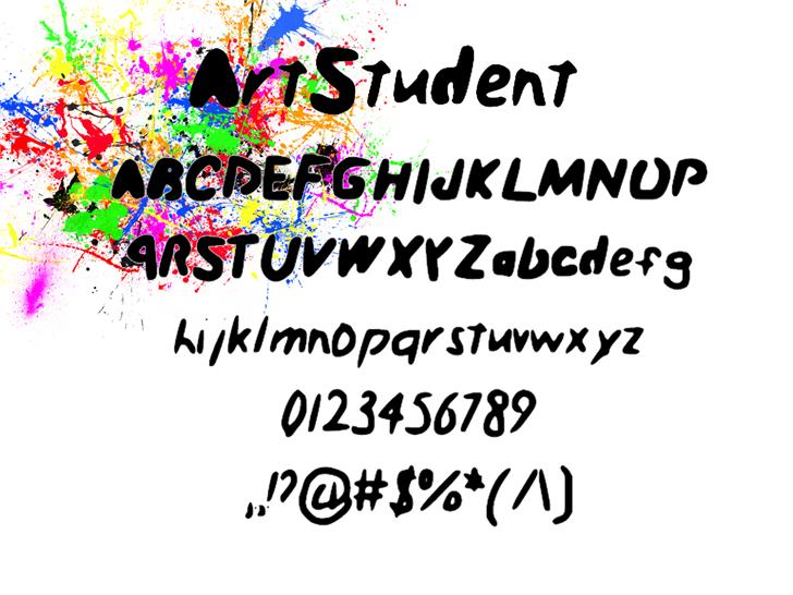 Art_Student font by FinlaysonFilm