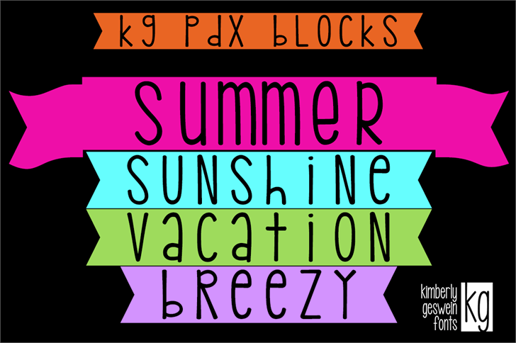 KG PDX Blocks font by Kimberly Geswein