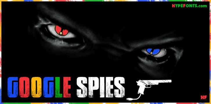 Google spies font by Herofonts