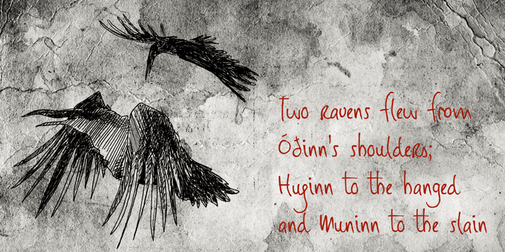 DK Huginn And Muninn font by David Kerkhoff