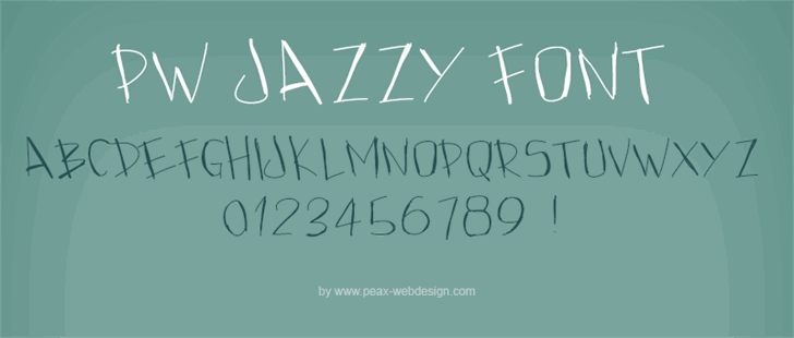 PWJazzy font by Peax Webdesign