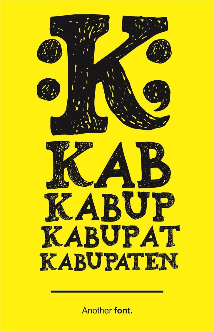Kabupaten font by Gunarta