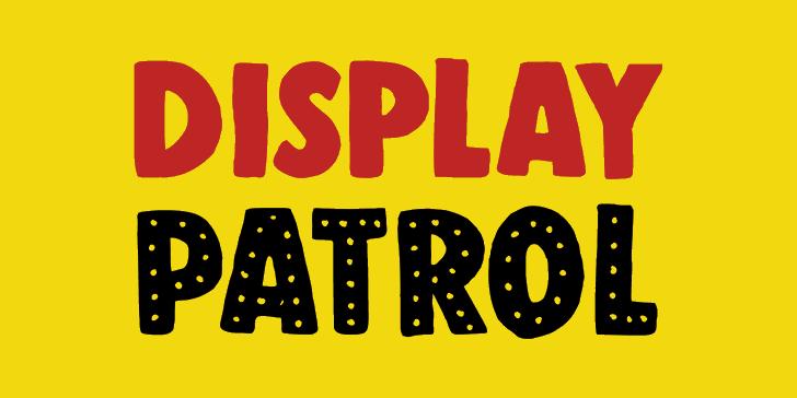 DK Display Patrol font by David Kerkhoff