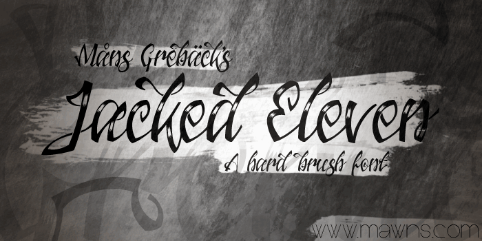 Jacked Eleven Highlight font by Måns Grebäck
