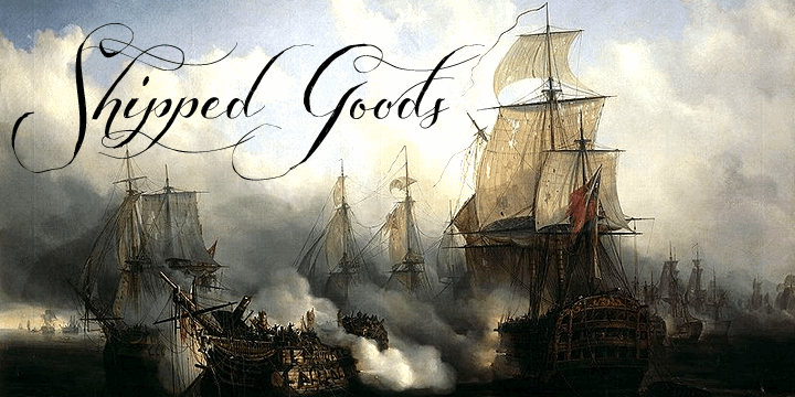 Shipped Goods font by Måns Grebäck
