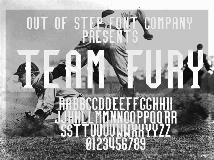 Team Fury font by Out Of Step Font Company