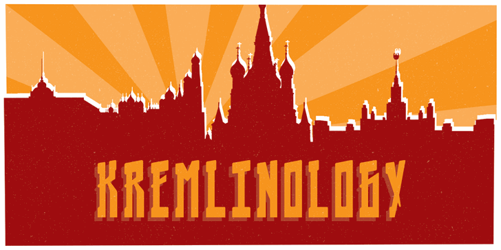 Kremlinology font by Lauren Ashpole