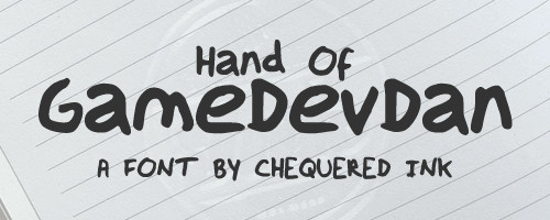 Hand Of GameDevDan font by Chequered Ink