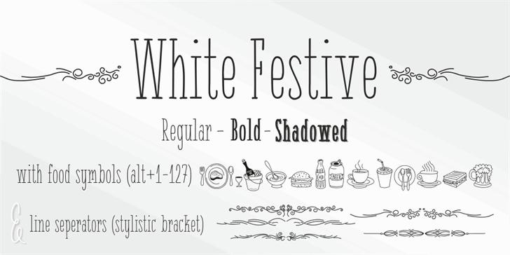 { White Festive } font by studiotypo