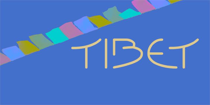 Tibet font by Rémi Godefroid
