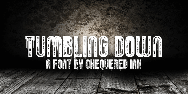 Tumbling Down font by Chequered Ink