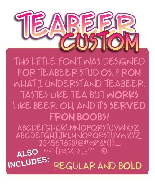 Teabeer Custom font by Press Gang Studios