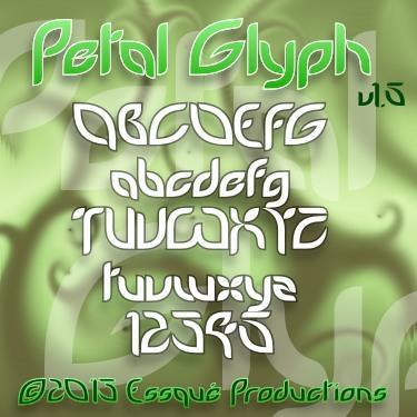PetalGlyph font by Essqué Productions