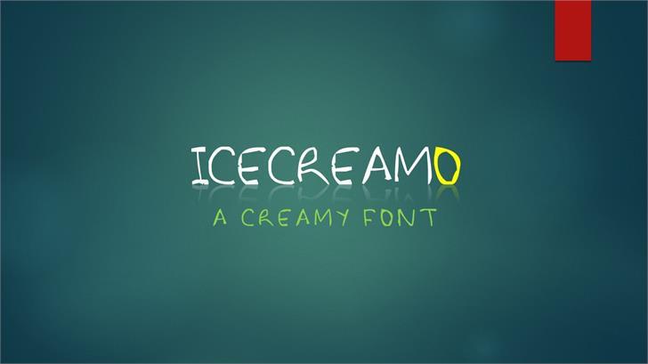 Icecreamo font by ClassleSoft