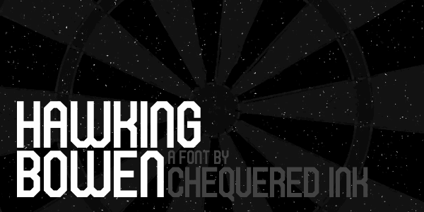 Hawking Bowen font by Chequered Ink