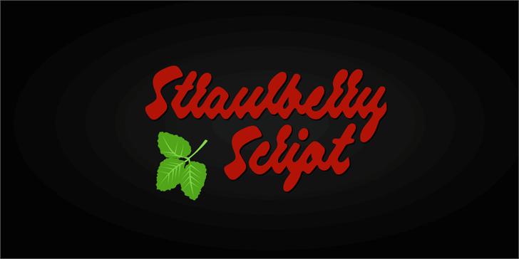 Strawberry Script PERSONAL USE font by Måns Grebäck