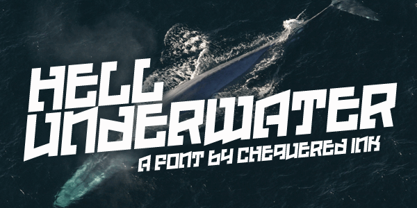Hell Underwater font by Chequered Ink