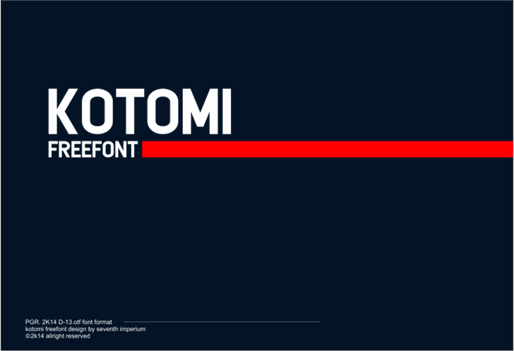 Kotomi font by seventhimperium
