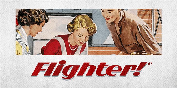 Flighter PERSONAL USE ONLY font by Måns Grebäck