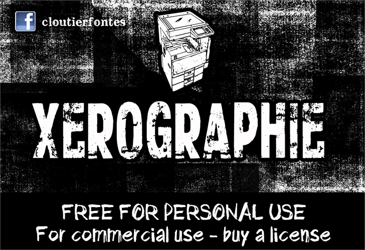 CF Xerography DEMO font by CloutierFontes