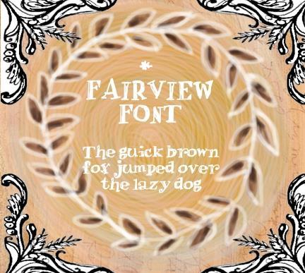 Fair view font by calej d'art