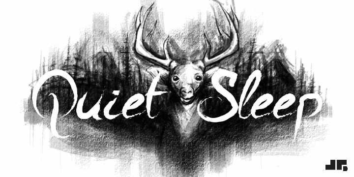 A Quiet Sleep font by John Gauthier Designs