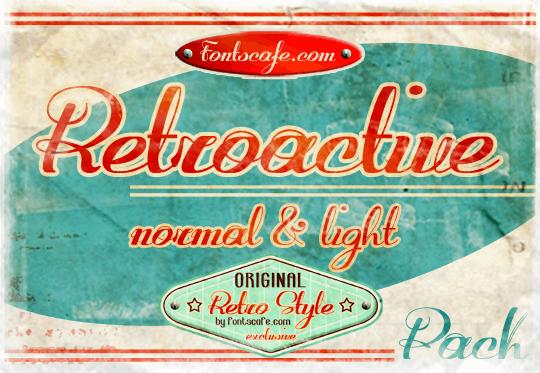 Retroactive_demo-version font by FontsCafe