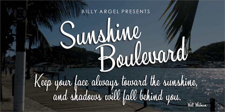 Sunshine Boulevard Personal Use font by Billy Argel