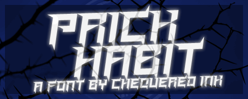 Prick Habit font by Chequered Ink
