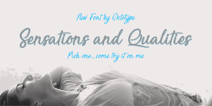 Sensations and Qualities font by Octotype
