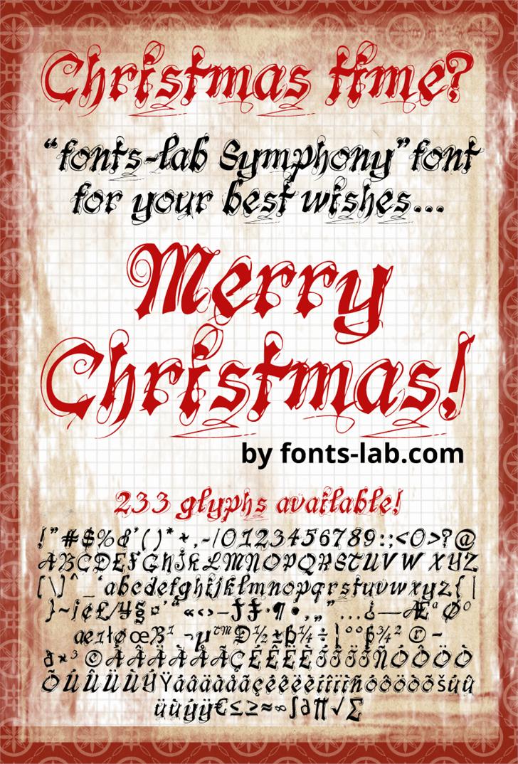 fonts-lab Symphony_demo font by FontsCafe