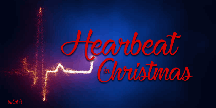 Heartbeat in Christmas font by Foundmyfont Studio Typeface LTD