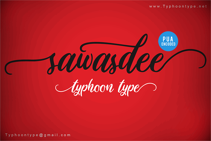 Sawasdee font by Typhoon Type - Suthi Srisopha
