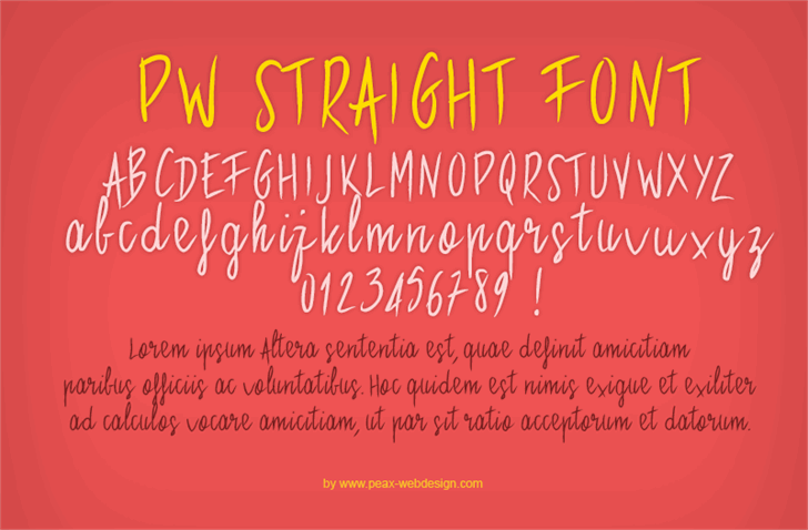 PWStraight font by Peax Webdesign