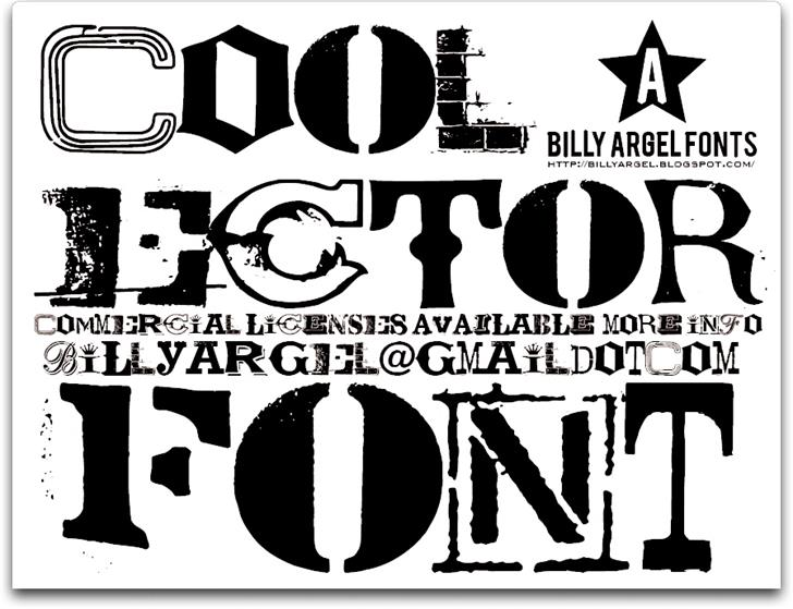 COOLECTOR font by Billy Argel