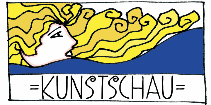 DK Kunstschau font by David Kerkhoff