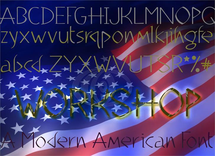 WorkShop Light font by moonmoth design