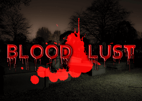 Blood Lust font by Font Monger