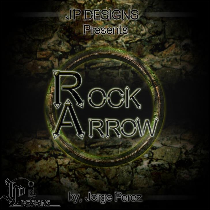 Rock Arrow font by LJ Design Studios