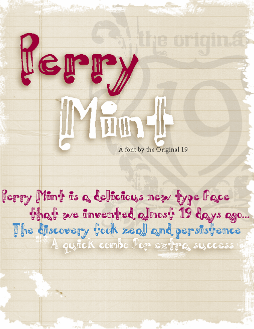 Perrymint font by The Original 19